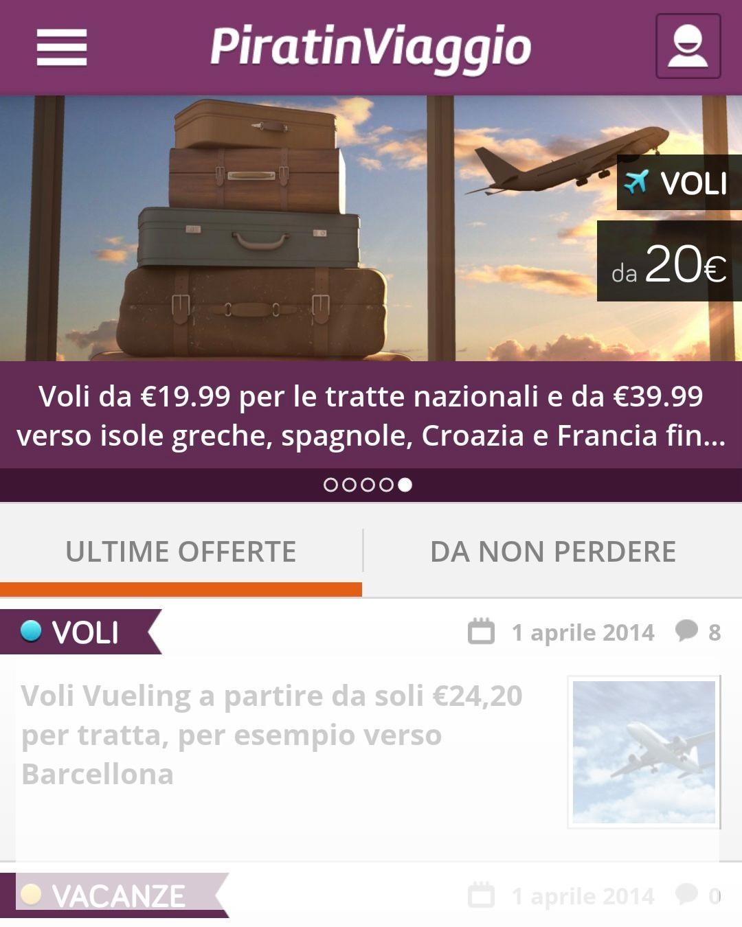Piratinviaggio: L'app per i viaggi last minute e lowcost